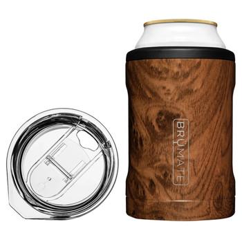 BruMate Hopsulator Duo 2-In-1 Can Cooler Tumbler Walnut