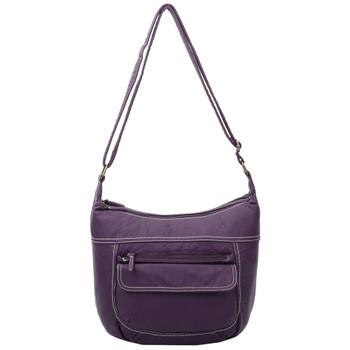 Vegan Leather Purple Crossbody Purse