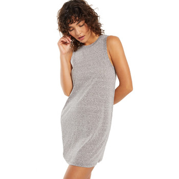 Z Supply Lex Heather Grey Triblend Mini Dress front view