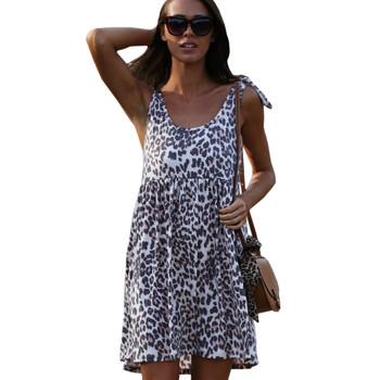 Wanna B Leopard Print Summer Dress
