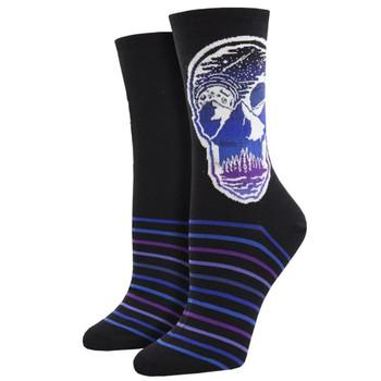 Atomicchild Women's Casual Socks Majestic Skull