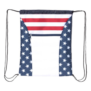 Red, white and blue, stars and stripes bag.