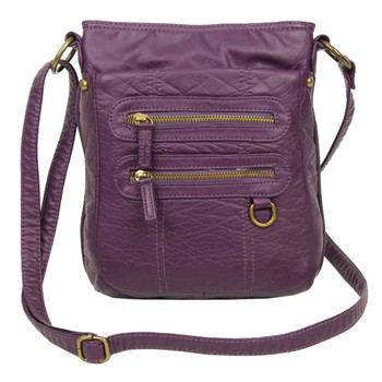 Purple Crossbody Pouch Shoulder Bag