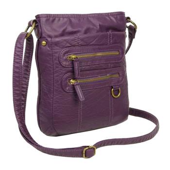 Purple Crossbody Pouch Shoulder Bag front view