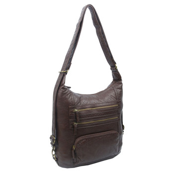 The Lisa Convertible Backpack Crossbody Purse front view
