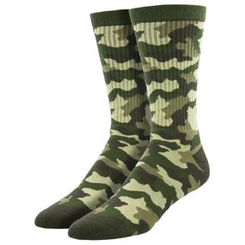Green Camo Men's Athletic Crew Socks