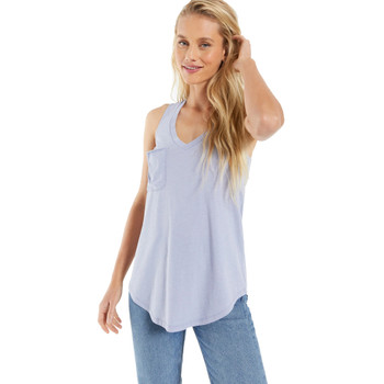 Z Supply Pocket Racer Tank Top front view