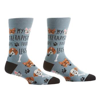 Dog Therapy Men's Crew Socks