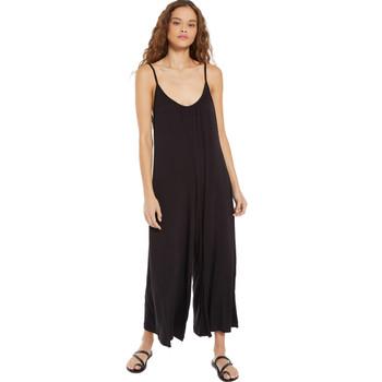 Z Supply Summerland Black Slim Flared Jumpsuit