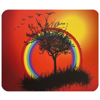 Rainbow Tree Mouse Pad Mat