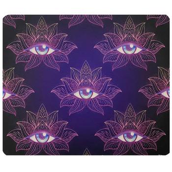 Flower Lotus Eye Mouse Pad Mat