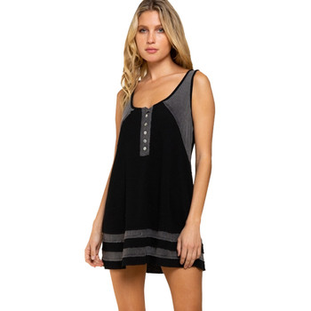 POL Clothing Two-Toned Knit Tunic Tank Top
