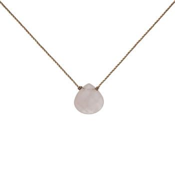 Soul Ku Rose Quartz Gemstone Necklace