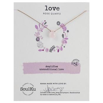 SoulKu Rose Quartz Necklace