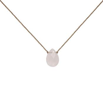 SoulKu Rose Quartz Gemstone Necklace
