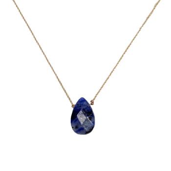 SoulKu Sodalite Gemstone Necklace