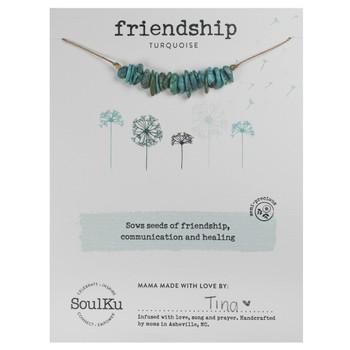 SoulKu Turquoise Seed Necklace