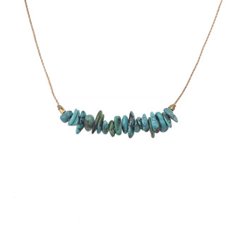 SoulKu Turquoise Seed Necklace for Friendship