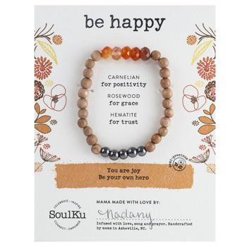 SoulKu Carnelian Be Happy Bracelet