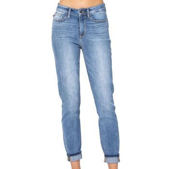 Judy Blue High Rise Cuff Slim Fit Jeans