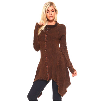 Urban X Rusty Brown Tunic Jacket front view