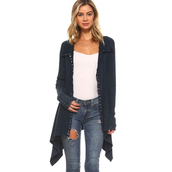 Urban X Mineral Washed Navy Blue Tunic Top Jacket