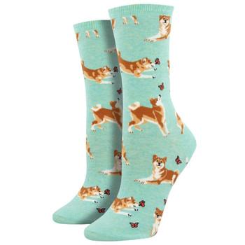Shiba Puppy Dog Women's Crew Socks
