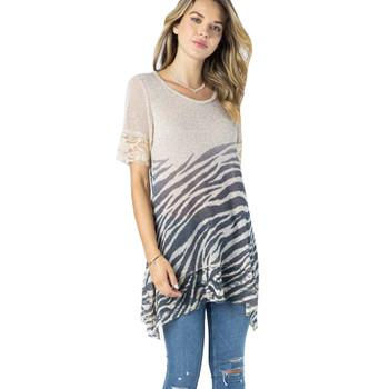 Vocal Apparel Animal Print Knit Top