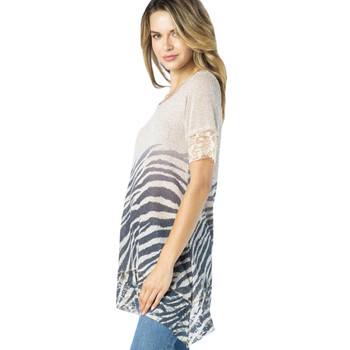 Vocal Apparel Animal Print Knit Top side view