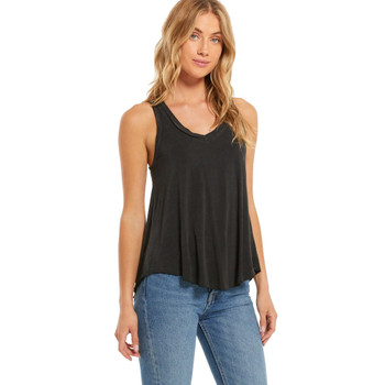 Z Supply Vagabond Charcoal Tank Top front view