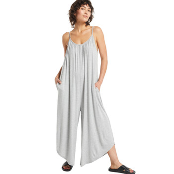 Z Supply Flared Wide Leg Heather Grey Jumpsuit