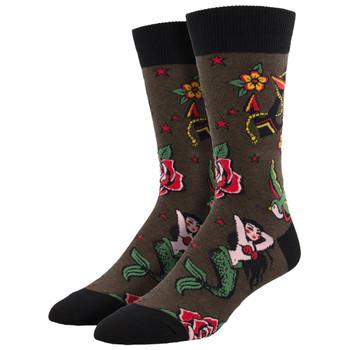 Traditional Tattoo Men's Crew Socks