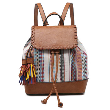 Two-Tone Backpack Purse