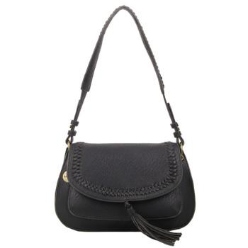 Black Saddle Shoulder Bag Purse