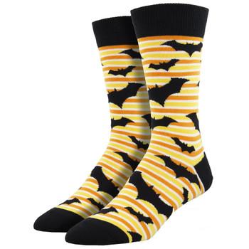 Halloween Bats Men's Crew Socks