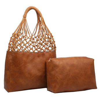 Cognac Brown Shoulder Bag Purse