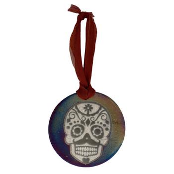 Sugar Skull Ceramic Hanging Ornament