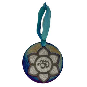 Lotus Flower Ceramic Hanging Ornament