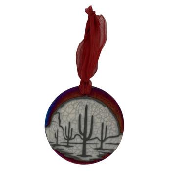 Saguaro Cactus Ceramic Hanging Ornament