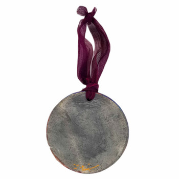 Ceramic Hanging Ornament back view