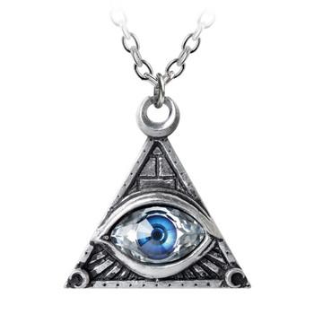 Alchemy Gothic Evil Eye Pendant Necklace