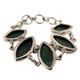 Green Malachite sterling silver bracelet.