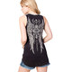 Vocal Apparel Cross and Wings Tank Top back view