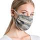 Reusable Camo Ribbed Face Mask ear loops view