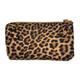 Leopard Wristlet Wallet Crossbody Purse back view