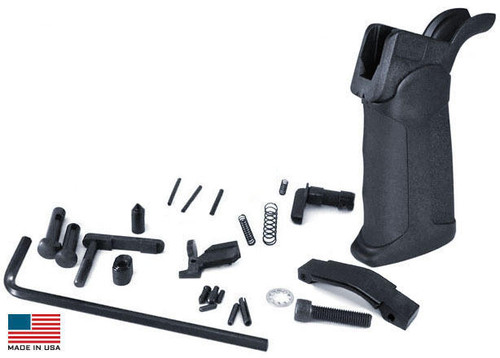 KE Arms KE Arms AR15 Drop-in Lower Parts Kit - XTech Pistol Grip or Trigger Not Included