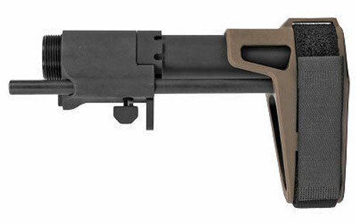 SB Tactical SB Tactical SB PDW Pistol Stabilizing Brace - FDE or AR Pistol Compatible or 3 Position Adjustable or Black Housing and Tube