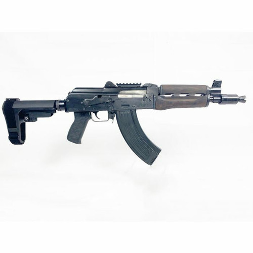 Zastava Arms USA Zastava ZPAP92 AK-47 Pistol BULDGED TRUNNION 1.5MM RECEIVER - Stained Wood Handguard or 7.62x39 or 10 Chrome Lined Barrel or Booster Brake or SBA3 Arm Brace