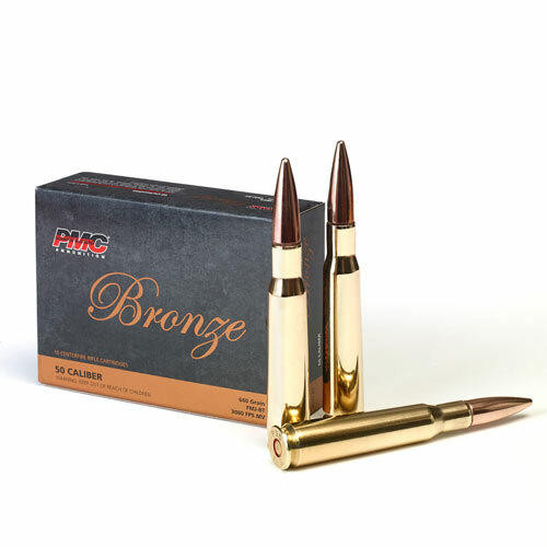 PMC Ammunition PMC Bronze .50 BMG Rifle Ammo - 660 Grain or FMJ-BT or 10rd Box