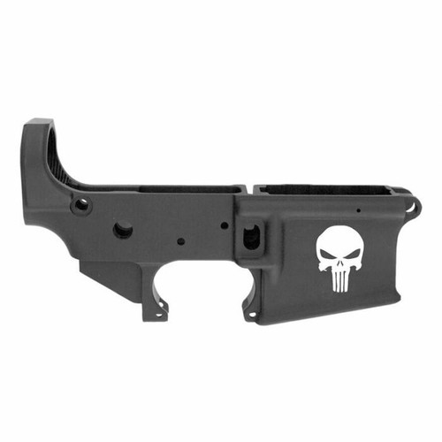 Anderson Manufacturing Anderson AM-15 Forged Stripped AR15 Lower Receiver - Black or Punisher Skull Logo or Retail Packaging